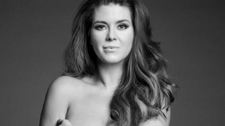 Alicia Machado se desnudó contra el uso de pieles de animales