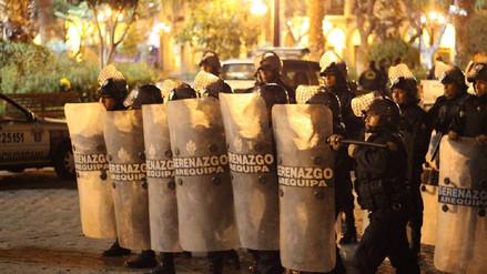 Personas ebrias y vendedores fueron desalojados del centro de Arequipa