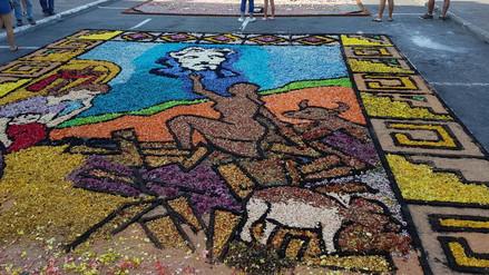 Evangelina Chamorro inspiró una alfombra floral de Semana Santa en Surco