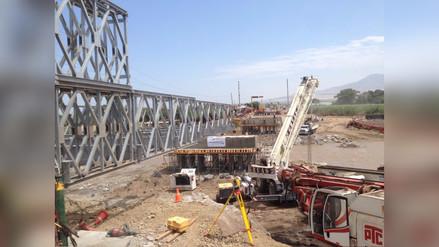 Virú: a punto de culminar instalación de puente Bailey