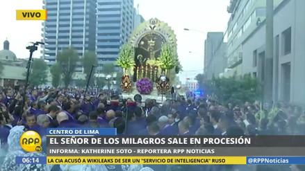 La imagen del Señor de los Milagros salió en procesión por Semana Santa