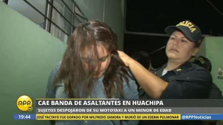 Cayó una banda de asaltantes integrada por mujeres en Huachipa