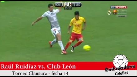 Raúl Ruidíaz salió lesionado en el partido del Morelia ante León