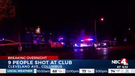 Nueve heridos tras un tiroteo en una discoteca de Ohio