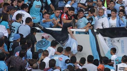 Hinchas de Belgrano lanzaron de la tribuna a supuesto infiltrado
