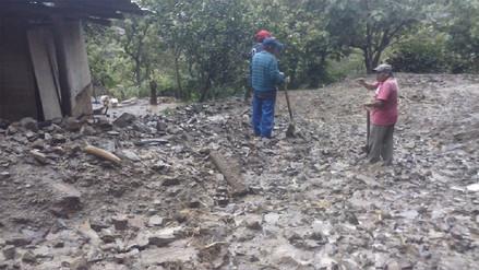 La Convención: huaico destruyó seis casas y cultivos de café