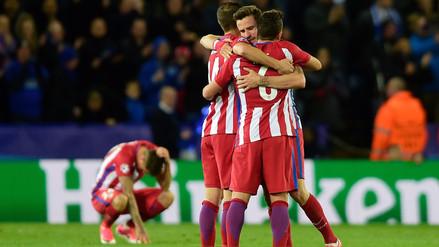 Atlético de Madrid pasó a semifinales tras empatar contra el Leicester