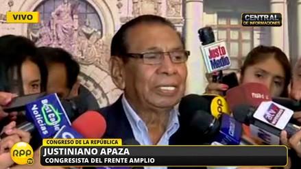 """Justiniano Apaza: """"Se me ha malinterpretado, rechazo todo acto de terrorismo"""""""