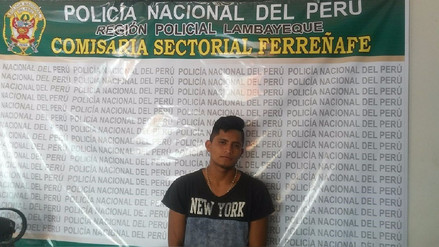 Capturan a sujeto que golpeó a su padre en Chiclayo