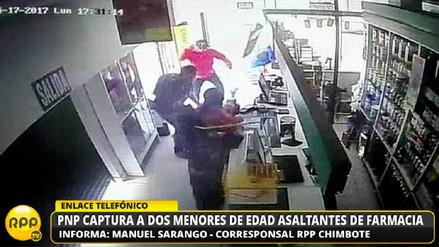 Video | Capturan a menores tras asaltar una farmacia en Nuevo Chimbote