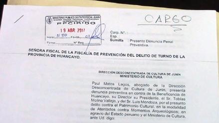 Dirección de Cultura denuncia penalmente a Beneficencia de Huancayo