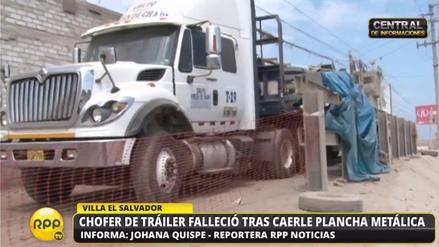 Un chofer de tráiler falleció aplastado por plancha metálica en Villa El Salvador