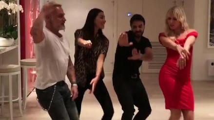 Luis Fonsi visitó al millonario Gianluca Vacchi y bailaron