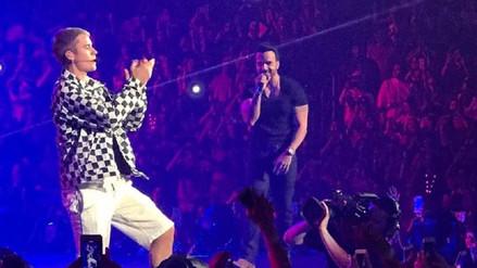 Justin Bieber y Luis Fonsi cantaron juntos en Puerto Rico
