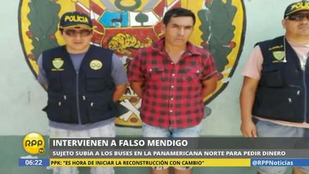 Capturan a un falso mendigo en la Panamericana Norte