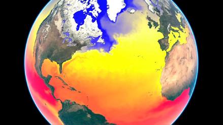 Animación muestra los cambios de temperatura del mar en 2016