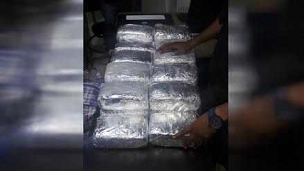 Incautan más de 45 kilos de marihuana en maletín dentro de bus interprovincial