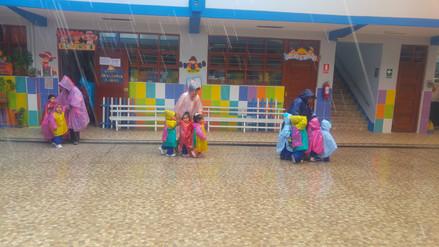 Niños de dos años también participaron de simulacro de inundación