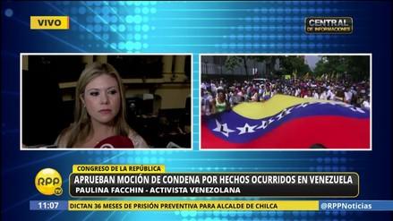 """Facchin al Frente Amplio: """"Los venezolanos tenemos derechos humanos"""""""