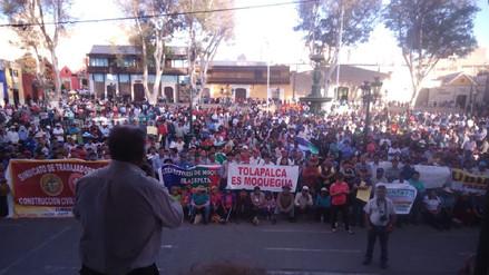 Moqueguanos rechazan informe final de la PCM sobre límites con Puno