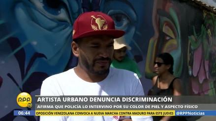 Un artista urbano denunció ser víctima de racismo y discriminación
