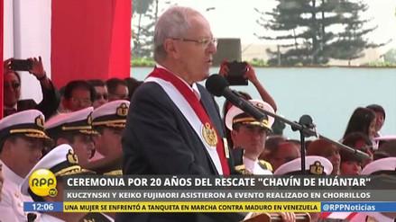 PPK presidió ceremonia del XX Aniversario de Chavín de Huántar