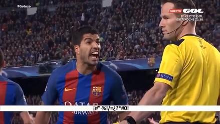 Una cámara captó cómo Luis Suárez insultó a los árbitros ante Juventus