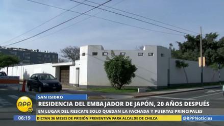 Así luce la residencia del embajador de Japón a 20 años del rescate