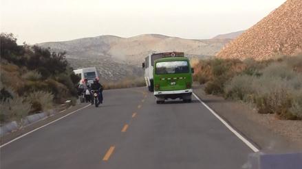 Limpian carretera que conduce a Santuario de la Virgen de Chapi
