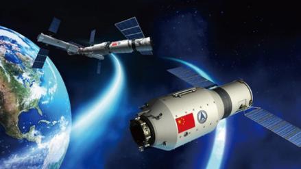 El carguero espacial chino se acopló al laboratorio orbital Tiangong-2