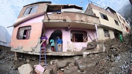 Más de 21,000 viviendas colapsaron hasta el momento en el país por desastres naturales