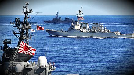 Japón realiza pruebas militares con destructor de EE.UU. camino a aguas de Corea