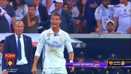 La furia de Cristiano Ronaldo por el gol de Lionel Messi al último minuto