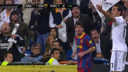 El día que Messi enfureció a la hinchada del Real Madrid con un pelotazo