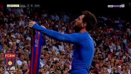 La épica celebración de Lionel Messi a todo el Santiago Bernabéu