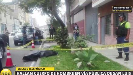 Hallan el cadáver de un hombre en una calle de San Luis