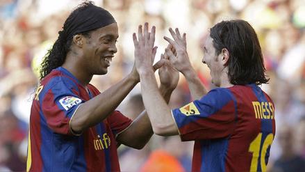 Ronaldinho felicitó a Messi por su gol 500: