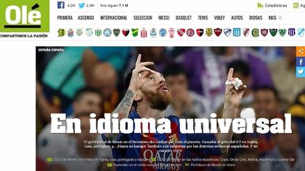 La prensa mundial se rinde ante Lionel Messi por su doblete al Real Madrid