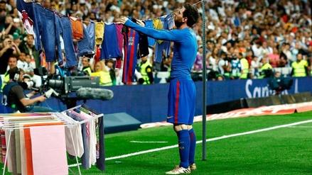 Lionel Messi es víctima de los memes tras su celebración en el Bernabéu