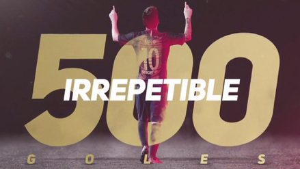 El video homenaje del Barcelona a Messi tras llegar a los 500 goles