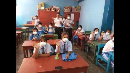 Entregan mascarillas a más de 5 mil escolares para evitar enfermedades