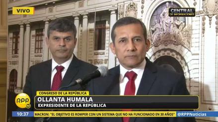 """Humala pide una """"severa llamada de atención"""" para la Comisión de Defensa"""