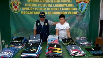 Chiclayo: intervienen a joven que vendía prendas de contrabando