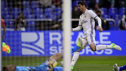 Álvaro Morata marcó un golazo para Real Madrid a los 52 segundos