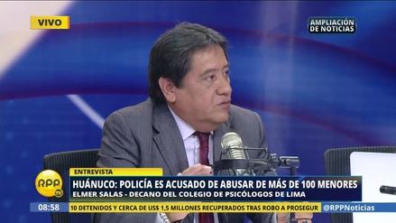 """Elmer Salas: """"El agresor sexual no tiene un perfil único"""""""