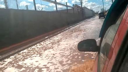 Una ciudad de Rusia se vio inundada por toneladas de jugo de frutas