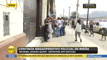Allanan una armería en Breña durante megaoperativo policial