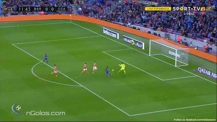 Lionel Messi anotó un golazo de 'sombrerito' al Osasuna en La Liga