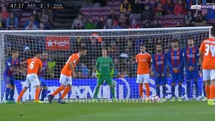 Ter Stegen cometió un infantil error en el golazo del Osasuna