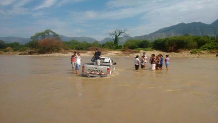 Viceministro de Turismo y comitiva quedaron atrapados en el río Chotoque